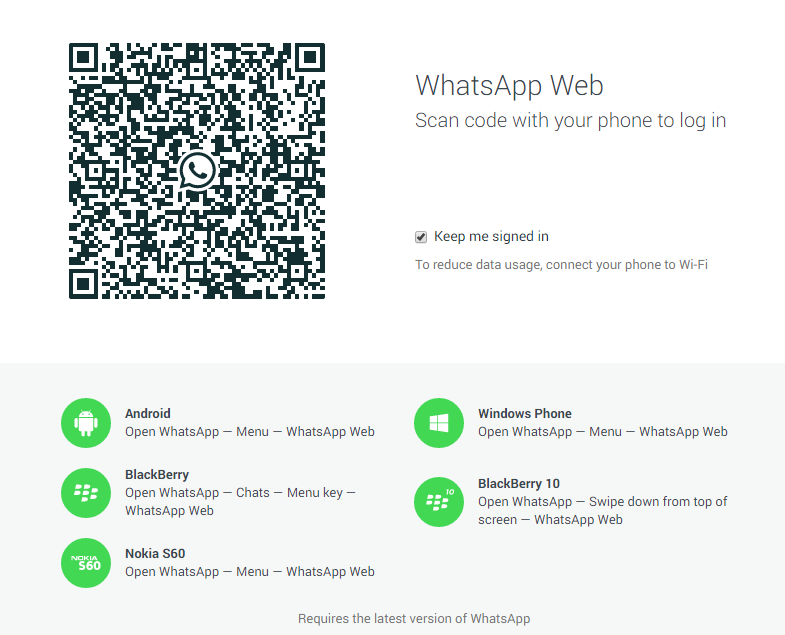 Scan Code on whatsapp