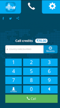 Download GV Call app and get 1$ for free calling