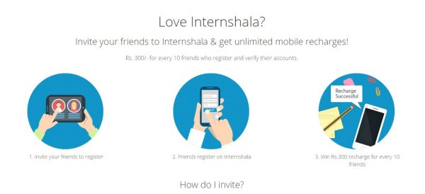 Invite your friends to Internshala & get unlimited mobile recharges!