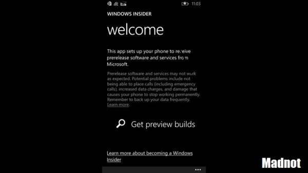 WIndows 10 mobile download from app store