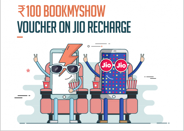 Freecharge and jio prime offer from bookmyshow